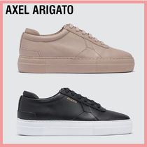 AXEL ARIGATO Rubber Sole Casual Style Leather Low-Top Sneakers