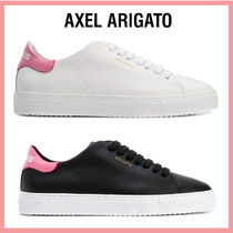 AXEL ARIGATO Round Toe Rubber Sole Casual Style Leather Low-Top Sneakers