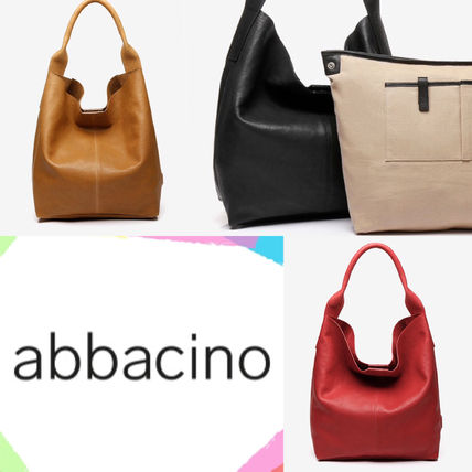 Casual Style Bag in Bag A4 Leather Totes