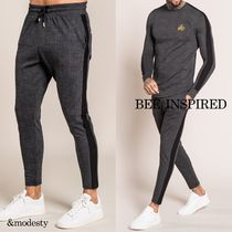 Bee Inspired Clothing Other Check Patterns Street Style Men Skinny Pants