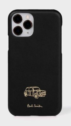 Paul Smith Unisex Blended Fabrics Plain Leather Logo iPhone 11 Pro