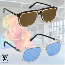Louis Vuitton Blended Fabrics Street Style Square Sunglasses