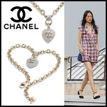 CHANEL Blended Fabrics Chain Party Style Elegant Style Bridal