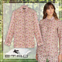 ETRO Flower Patterns Paisley Casual Style Long Sleeves Medium