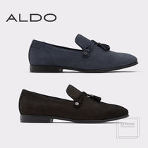 ALDO Straight Tip Loafers Tassel Plain Leather Oversized