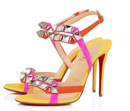 Christian Louboutin Suede Heeled Sandals