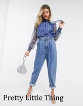 PrettyLittleThing Dots Casual Style Puffed Sleeves Street Style Long Sleeves
