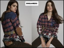 D SQUARED2 Other Check Patterns Casual Style Street Style Long Sleeves