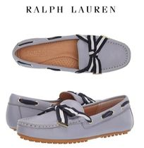 Ralph Lauren Rubber Sole Casual Style Plain Logo Loafer & Moccasin Shoes