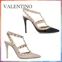 VALENTINO Casual Style Studded Pin Heels Party Style
