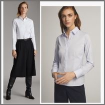 Massimo Dutti Long Sleeves Cotton Medium Office Style Shirts & Blouses