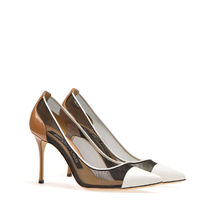 Sergio Rossi Casual Style Plain Leather Pin Heels Elegant Style Logo