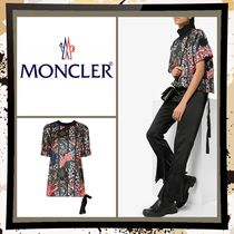MONCLER Flower Patterns Casual Style Silk Medium Short Sleeves