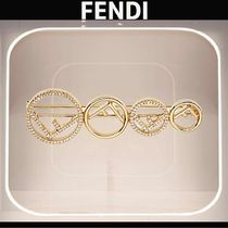 FENDI F IS FENDI Casual Style Blended Fabrics Party Style With Jewels