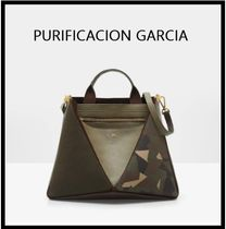 Purificacion Garcia Casual Style Leather Elegant Style Formal Style  Totes