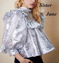 Sister Jane Casual Style Puffed Sleeves Long Sleeves Plain Party Style