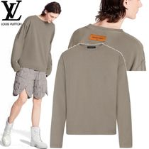 Louis Vuitton Crew Neck Unisex Street Style Long Sleeves Plain Cotton