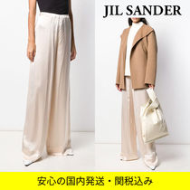 Jil Sander Silk Plain Medium Long Party Style Office Style