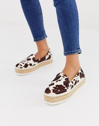 ASOS Platform Casual Style Blended Fabrics Other Animal Patterns
