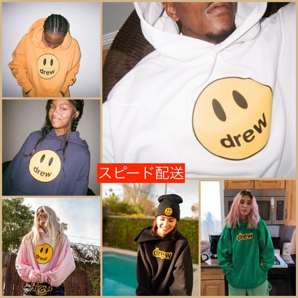 drew house Pullovers Unisex Sweat Street Style Oversized Logo Hoodies