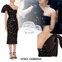 Dolce & Gabbana Tight Nylon Medium Long With Jewels Glitter Bridal Dresses