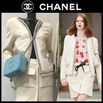 CHANEL Other Plaid Patterns Tweed Plain Medium Party Style