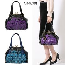 ANNA SUI Casual Style Plain Party Style Elegant Style Totes