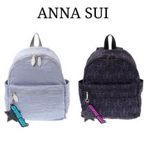 ANNA SUI Unisex Plain Other Animal Patterns Backpacks