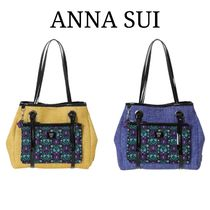 ANNA SUI Plain Other Animal Patterns Totes