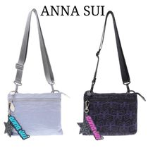 ANNA SUI Plain Other Animal Patterns Shoulder Bags