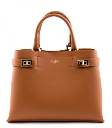 Casual Style 2WAY Plain Leather Office Style Totes