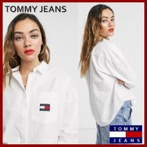 Tommy Hilfiger Street Style Long Sleeves Plain Cotton Shirts & Blouses