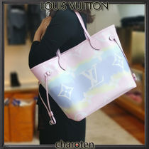 Louis Vuitton NEVERFULL Unisex Tassel Bridal Icy Color Mothers Bags