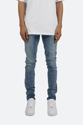 Tapered Pants Denim Street Style Cotton Jeans