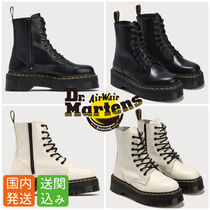 Dr Martens Platform Lace-up Casual Style Unisex Street Style Leather