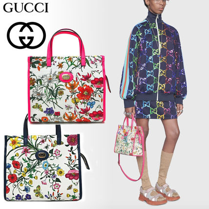 GUCCI Flower Patterns 2WAY Elegant Style Totes