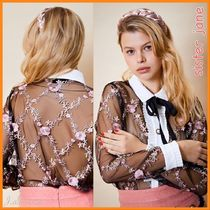 Sister Jane Flower Patterns Casual Style Long Sleeves Party Style