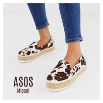 ASOS Casual Style Other Animal Patterns Leather Flats