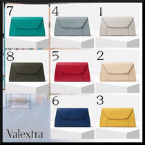 Valextra Casual Style 2WAY 3WAY Plain Leather Party Style