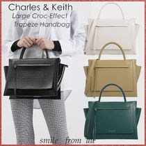 Charles&Keith Casual Style A4 2WAY Plain Office Style Elegant Style