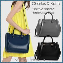 Charles&Keith Casual Style Faux Fur A4 2WAY Plain Office Style