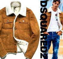 D SQUARED2 Fur Leather Shearling Biker Jackets