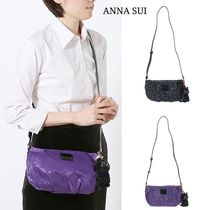 ANNA SUI Casual Style Plain Other Animal Patterns Shoulder Bags