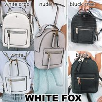 WHITE FOX Casual Style Faux Fur 2WAY Plain Elegant Style Backpacks