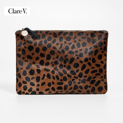 Leopard Patterns Casual Style Fur Party Style Elegant Style