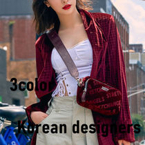 Casual Style Suede Faux Fur Blended Fabrics 3WAY Plain