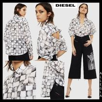 DIESEL Long Sleeves Cotton Shirts & Blouses