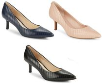 Karl Lagerfeld Leather Pointed Toe Pumps & Mules