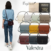 Valextra Iside Casual Style Calfskin 2WAY Plain Leather Party Style