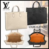 Louis Vuitton Monogram Casual Style Calfskin A4 2WAY Leather Party Style